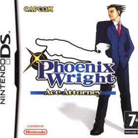 The cover art of the game Phoenix Wright: Ace Attorney .