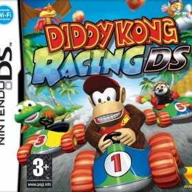 The cover art of the game Diddy Kong Racing DS.