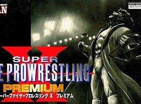 The cover art of the game Super Fire Pro Wrestling X Premium .