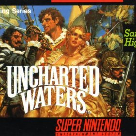 The cover art of the game Uncharted Waters .