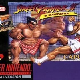 The cover art of the game Street Fighter II Turbo - Hyper Fighting.