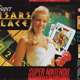 The cover art of the game Super Caesars Palace.