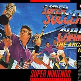 The cover art of the game Super Soccer Champ .