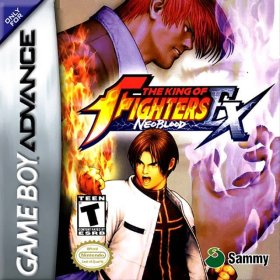 The cover art of the game The King Of Fighters EX - Neo Blood .