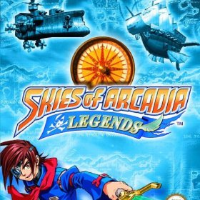 The cover art of the game Skies of Arcadia Legends.