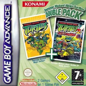 The cover art of the game Teenage Mutant Ninja Turtles Double Pack .