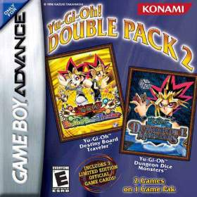 The cover art of the game 2 in 1 - Yu-Gi-Oh! - Destiny Board Traveler & Yu-Gi-Oh! - Dungeon Dice Monsters .