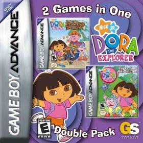 The cover art of the game  2 in 1 - Dora the Explorer - Pirate Pig's Treasure & Super Star Adventures .