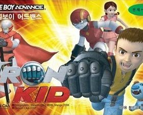 The cover art of the game  Iron Kid .