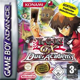 The cover art of the game Yu-Gi-Oh! GX - Duel Academy.