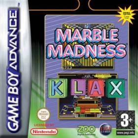 The cover art of the game 2 in 1 - Marble Madness & Klax.