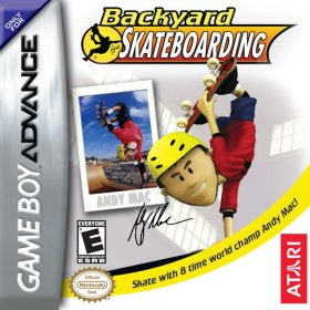 The cover art of the game Backyard Skateboarding .
