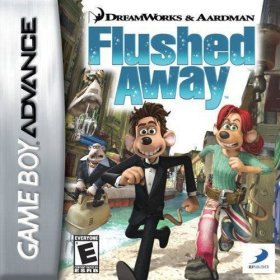 The cover art of the game Flushed Away .