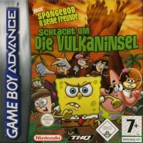 The cover art of the game SpongeBob SquarePants and Friends - Battle for Volcano Island.