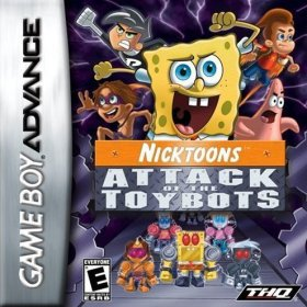 The cover art of the game SpongeBob and Friends - Attack of the Toybots .
