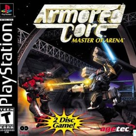 The cover art of the game Armored Core: Master of Arena.
