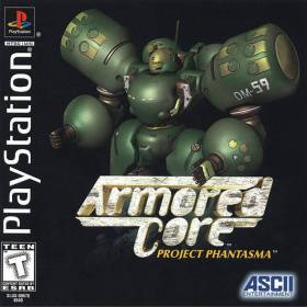 The cover art of the game Armored Core: Project Phantasma.