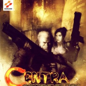 The cover art of the game Contra: Shattered Soldier.