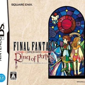 The cover art of the game Final Fantasy Crystal Chronicles Ring of Fates .