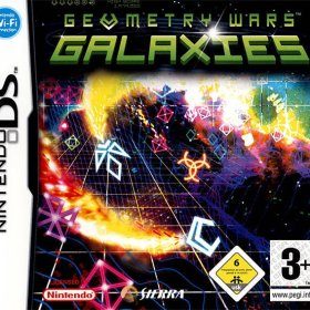 The cover art of the game Geometry Wars: Galaxies .