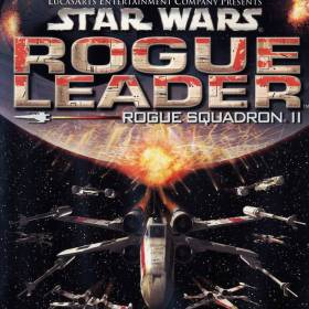 The cover art of the game Star Wars: Rogue Squadron II - Rogue Leader.