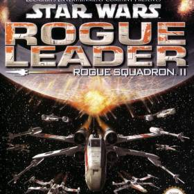 The cover art of the game Star Wars: Rogue Squadron II - Rogue Leader (Spain).