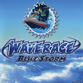 The cover art of the game Wave Race: Blue Storm.