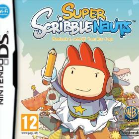 The cover art of the game Super Scribblenauts.