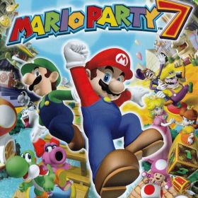 The cover art of the game Mario Party 7.