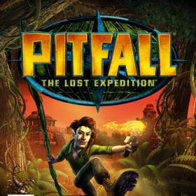 The cover art of the game Pitfall: The Lost Expedition.