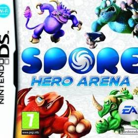 The cover art of the game Spore Hero Arena.