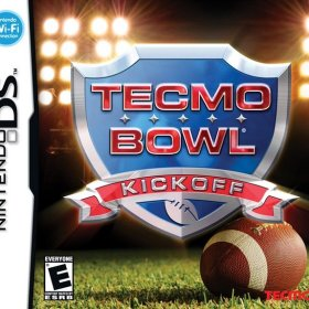 The cover art of the game Tecmo Bowl - Kickoff .