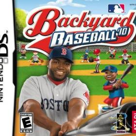 The cover art of the game Backyard Baseball '10.