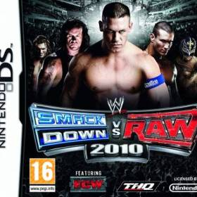 The cover art of the game WWE SmackDown vs Raw 2010 featuring ECW.