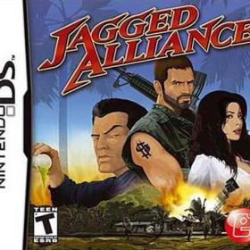 The cover art of the game Jagged Alliance .