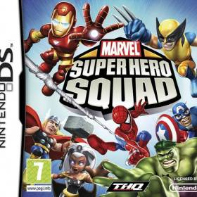 The cover art of the game Marvel Super Hero Squad.