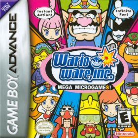 The cover art of the game WarioWare, Inc.: Mega Microgame$!.