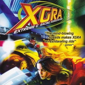 The cover art of the game XGRA: Extreme G Racing Association.