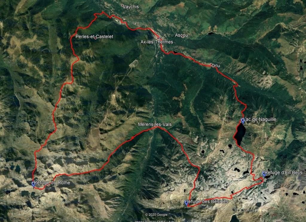 carte grp tour des montagnes d'Ax