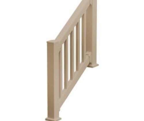 Fypon Quickrail Premium 36 X 120 Tan Synthetic Stair | Outdoor Stair Railing Menards