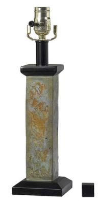 "Slateon 1-Light 19.5"" Natural Slate Accent Lamp Base at ..."