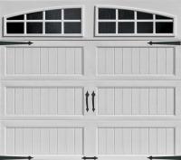 Ideal Door 4-Star 9 ft. x 7 ft. White Arch Lite Long ...