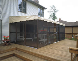 PatioMate Screened Enclosure 11 6 x 19 3 with Two