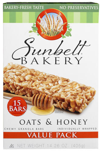 Sunbelt Bakery Chewy Oats amp Honey Granola Bars 15ct at