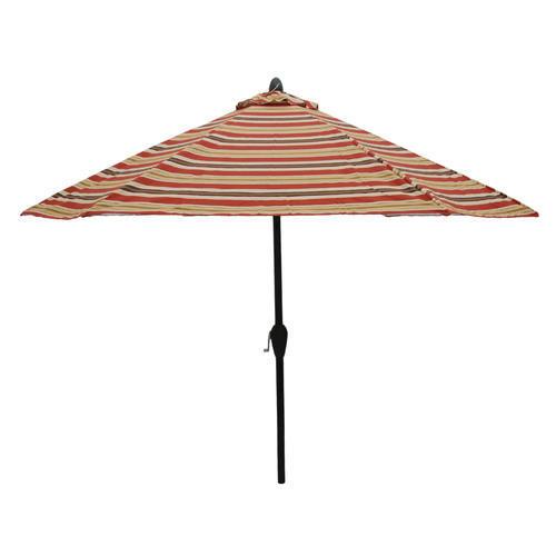 Backyard Creations 9 Sorrento Stripe Umbrella at Menards