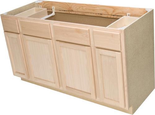 Quality One 60 x 3412 Unfinished Oak Sink Base