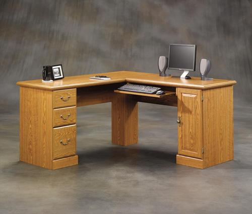 Sauder Orchard Hills Carolina Oak Corner Computer Desk at