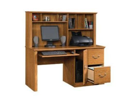 Sauder Orchard Hills 58 Carolina Oak Computer Desk with