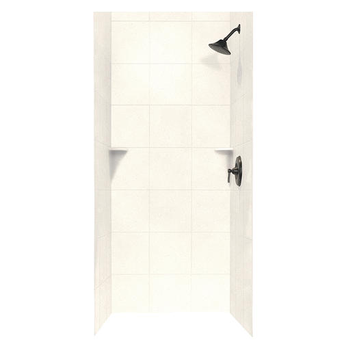 Swan Square Tile 36 X 36 X 72 Shower Wall Kit At Menards
