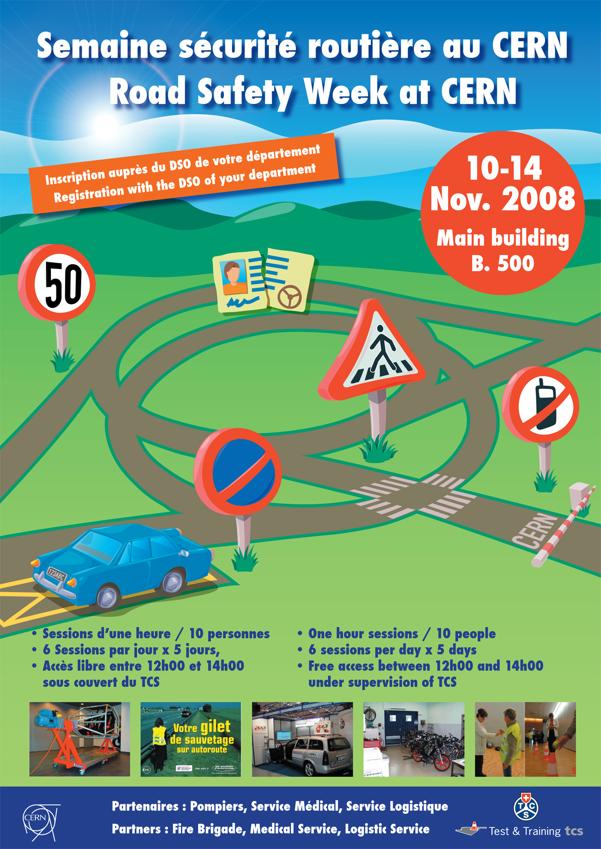 Road Safety Week At Cern Poster